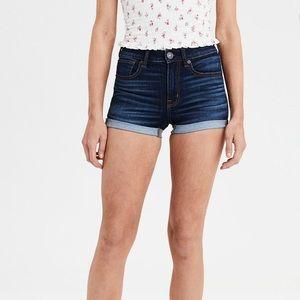 American Eagle Super Stretch High Rise Mini Shorts